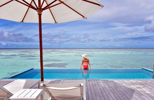 Premier Water Villa, Infinity Pool, Lifestyle, Conrad Maldives Rangali Island, Maldives