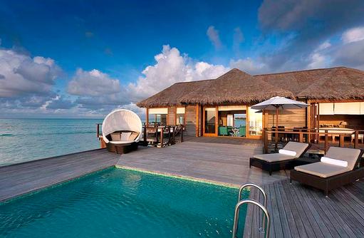 Sunste Water Villa, Traumvilla, Wasservilla, Conrad Maldives Rangali Island, Maldives