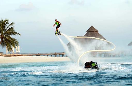 Flyboarding, Conrad Maldives Rangali Island, Maldives
