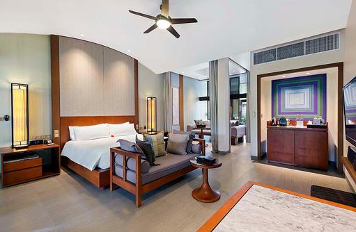 Beach Villa, Schlafzimmer, Conrad Maldives Rangali Island, Maldives