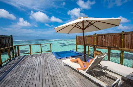 Water Villa, Lifestyle, Relax, Sonnenbaden, Conrad Maldives Rangali Island, Maldives
