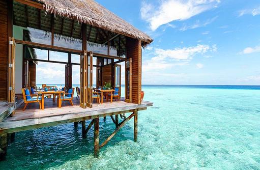 Mandhoo Restaurant, Terrasse, Conrad Maldives Rangali Island, Maldives