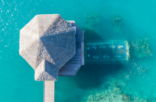Luftaufnahme, Unterwasserrestaurant Ithaa, Conrad Maldives Rangali Island