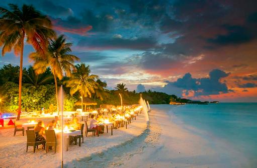 Champagne BBQ, Essen am Strand, Conrad Maldives Rangali Island, Maldives