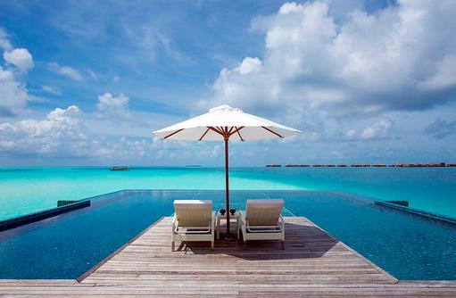 Infinity Pool, Relax, Conrad Maldives Rangali Island, Maldives