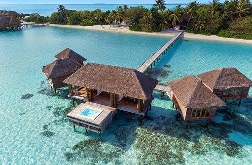 Overwater Spa, Frontansicht, Conrad Maldives Rangali Island, Maldives