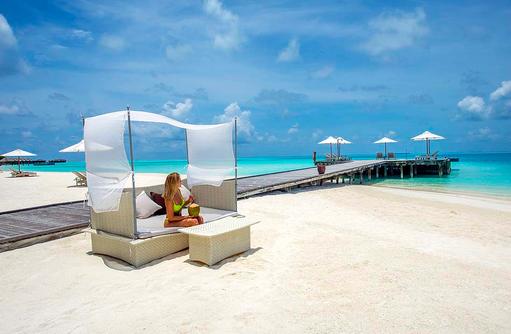 Daybed, Quiet Zone, Conrad Maldives Rangali Island, Maldives