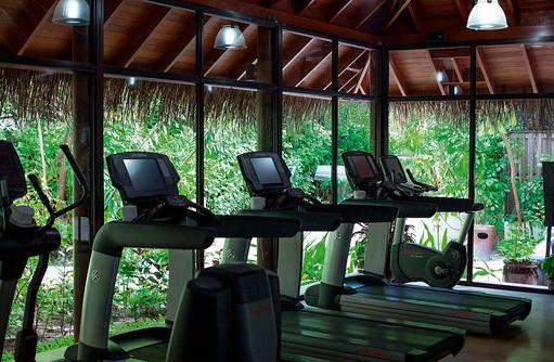 Fitnessstudio, Laufband, Constance Halaveli Resort, Maldives