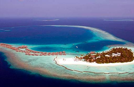 Blick auf die Insel,Vogelperspektive, Constance Halaveli Resort, Maldives