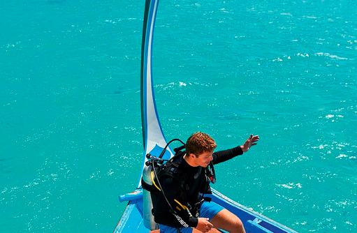 Tauchen, Dhoni, Constance Halaveli Resort, Maldives