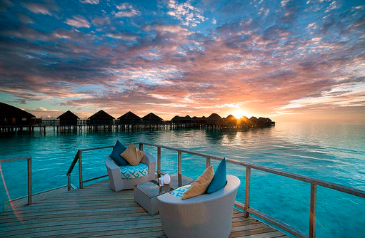 JING Bar, Sonnenuntergang, Constance Halaveli Resort, Maldives
