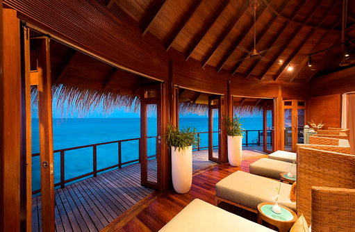 U Spa am Abend, Relax Beds, Constance Halaveli Resort, Maldives