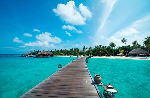Steg zur Insel, Constance Halaveli Resort, Maldives
