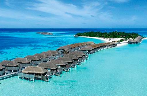 Luftaufnahme, Senior Water Villen, Constance Moofushi Resort, Malediven