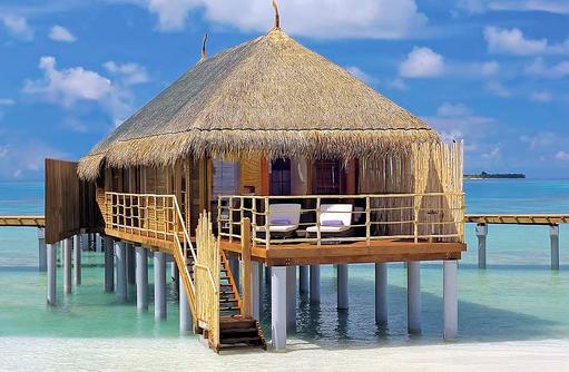 Senior Water Villa, Aussenansicht, Constance Moofushi Resort, Malediven
