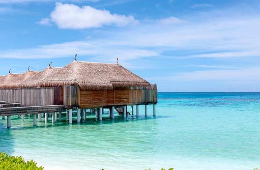 Water Villen, Aussenansicht, Constance Moofushi Resort, Malediven