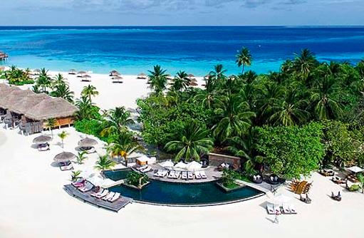 Pool, Totem Bar, Strand, Constance Moofushi Resort, Malediven