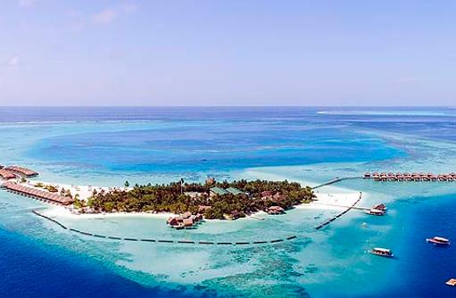 Luftaufnahme, Panorama, Constance Moofushi Resort, Malediven