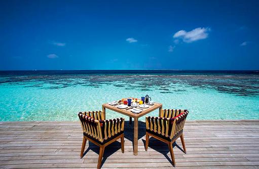 The Spice Restaurant,  Frühstück, Blick auf das Meer, COOEE OBLU at Helengeli, Maldives