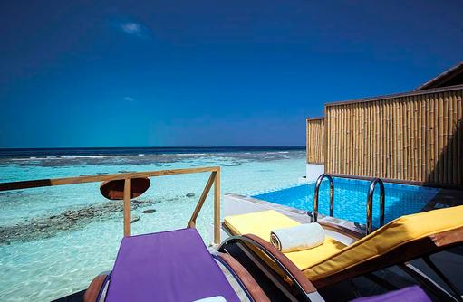 Lagoon Villa, Sonnendeck, Privatpool, COOEE OBLU at Helengeli, Maldives