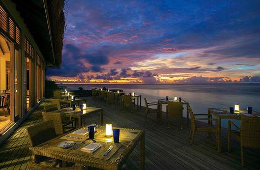 The Spice Restaurant, Terrase, Abendessen, Sonnenuntergang, COOEE OBLU at Helengeli, Maldives