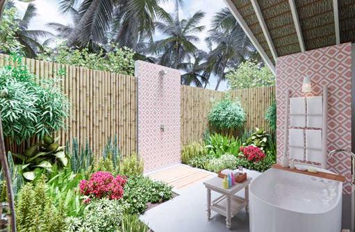Badezimmer Beach Villa, Cora Cora Maldives