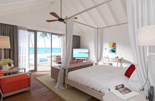 Schlafbereich Beach Villa, Cora Cora Maldives