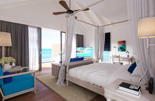 Schlafbereich Lagoon Villa, Cora Cora Maldives