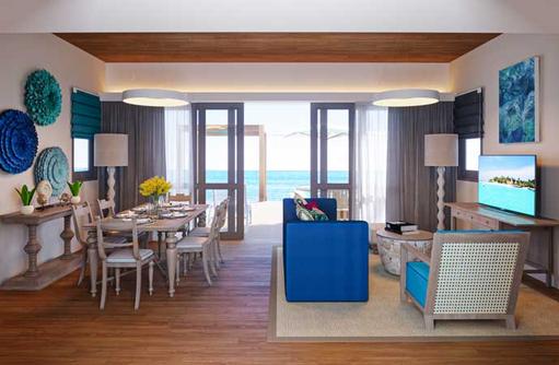 Wohnbereich Two Bedroom Lagoon Pool Villa, Cora Cora Maldives