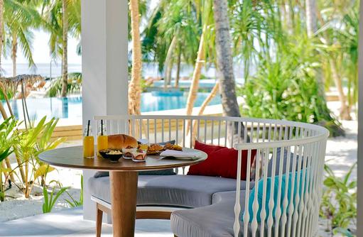 Sitzplatz im Jade, Dhigali Maldives