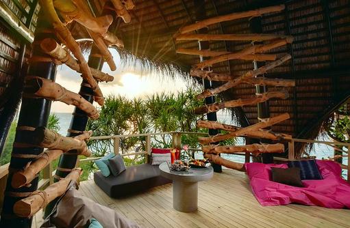 Sitzmöglichkeiten im Haali, Dhigali Maldives