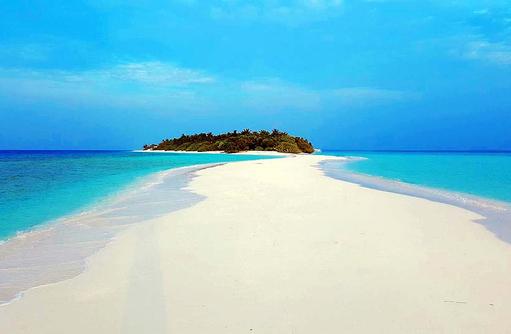 Blick auf die Sandbank, Dhigali Maldives
