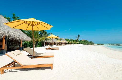 Strand der Beachbar, Dhigufaru Island Resort
