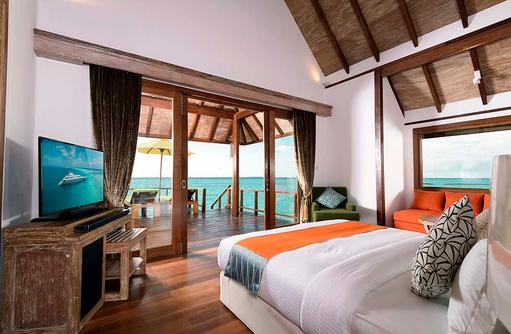Willkommen in der Semiwater Villa, Dhigufaru Island Resort