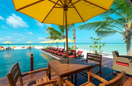 Meerblick am Thundi Pool, Dhigufaru Island Resort