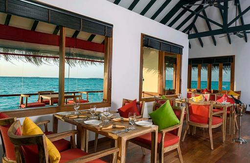 Dinner im Athiri Speciality Restaurant, Dhigufaru Island Resort