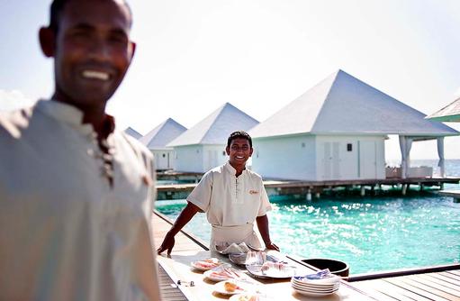 Happy Staff, Diamonds Athuruga Beach & Water Villas, Maldives
