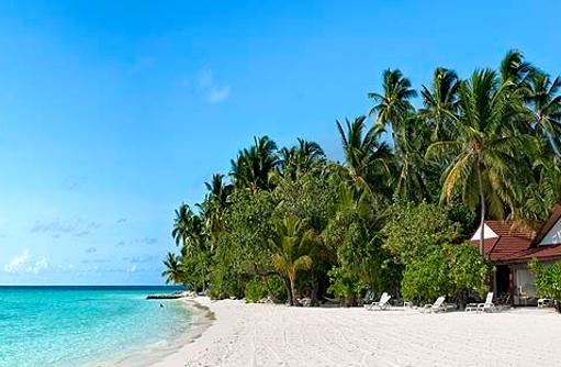 Traumstrand von Diamonds Athuruga Beach & Water Villas, Maldives