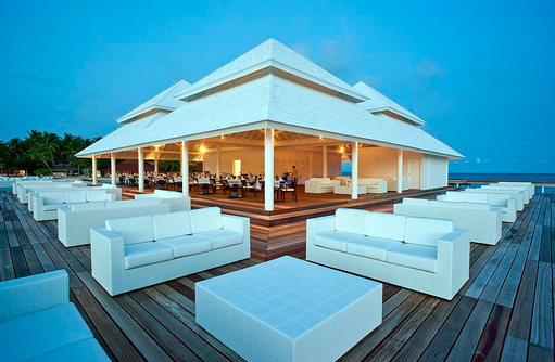 Aussenterrasse, Aqua Over Water Restaurant, Diamonds Thudufushi Island Resort, Maldives
