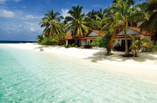 Beach Bungalows, Sand und Meer, Diamonds Thudufushi Island Resort, Maldives