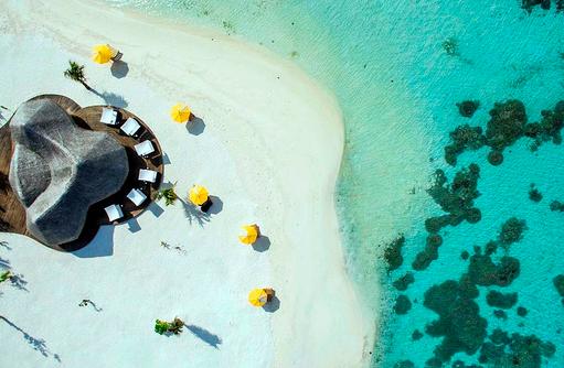 The Bar, Luftaufnahme, Vogelperspektive, Drift Thelu Veliga Retreat, Malediven