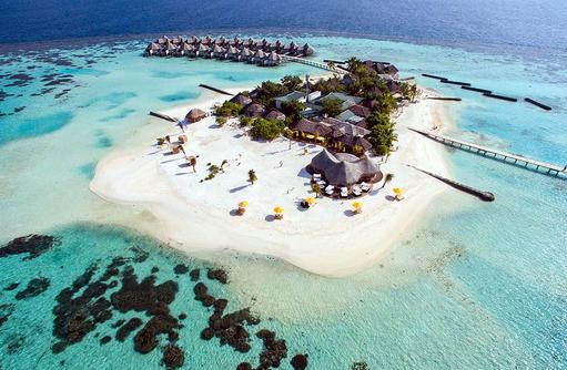 Insel von oben, Luftaufnahme, Drift Thelu Veliga Retreat, Malediven