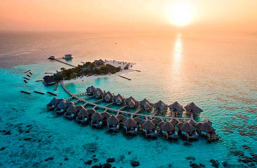 Sonnenuntergang, Drift Thelu Veliga Retreat, Malediven