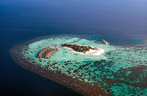 Vogelperspektive, Drift Thelu Veliga Retreat, Malediven