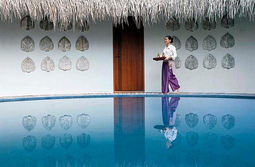 Devanara Spa, Aussenbereich, Dusit Thani Maldives