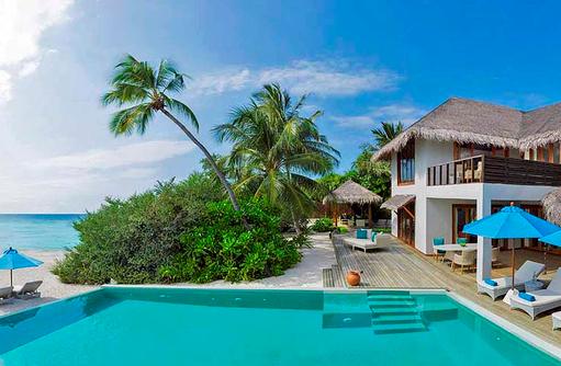 Three Bedroom Beach Residence, Aussenansicht, Pool, Dusit Thani Maldives