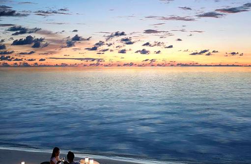Borderless Dining, Romantisches Dinner zu Zweit, Dusit Thani Maldives