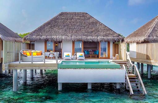 Ocean Villa with Pool, Aussenansicht, Dusit Thani Maldives