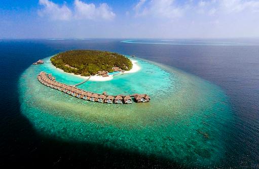Vogelperspektive, Dusit Thani Maldives