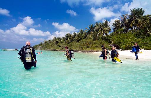 Tauchausflug, Embudu Village, Maldives